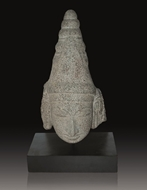 Picture of GREY STONE SCULPTURE OF VISHNU