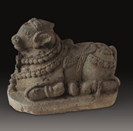 Picture of STONE SCULPTURE OF SITTING NANDI (BULL)