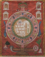 Picture of PAINTING ON CLOTH OF 'OM YANTRA' WITH JINAS