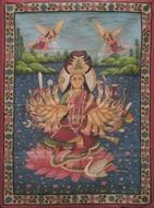 Picture of PAINTING ON CLOTH OF PADMAVATI DEVI