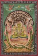 Picture of PAINTING ON CLOTH OF  SHASTA PARASHVANATH