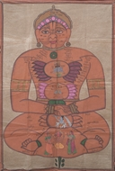 Picture of PAINTING ON CLOTH OF A JAIN TIRTHANKARA/GOD