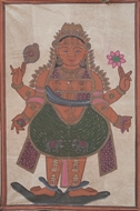 Picture of PAINTING ON CLOTH OF GODDESS PARVATI