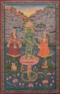 Picture of PAINTING ON CLOTH OF PARASHVANATH