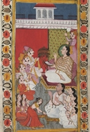 Picture of JAIN INVITATION SCROLL PAINTING