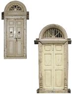 Picture of PAIR OF SOLID TEAKWOOD (PAINTED) DOUBLE DOOR