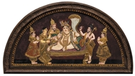Picture of TANJORE PAINTING - KRISHNA
