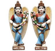 Picture of Marble Statues of Temple Attendants