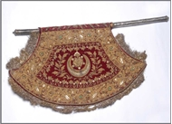 Picture of Mughal zardosi embroidered fan