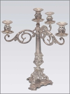 Picture of A four arm Rococo style silver candelabrum