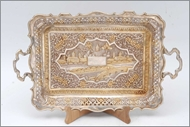 Picture of Colonial style Silver tray (lot 14)