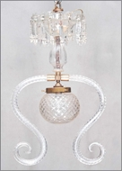 Picture of A fine cut glass ceiling lamp (lot 28)
