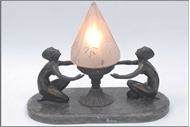 Picture of A bronze figural art-deco table-lamp (lot 34)