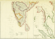 Picture of INDIA (SOUTHERN PART), PEGU, THE TENASSERIM PROVINCES, STRAITS SETTLEMENTS & c. Mounted, Glazed and Framed.