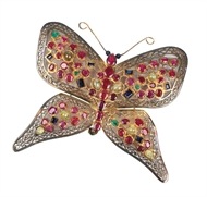 Picture of An impressive Continental Gold and Silver Studded butterfly
