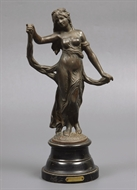 Picture of A Spelter  figure of a lady