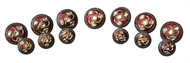 Picture of An impressive set of seven Sherwani Buttons and six Cuff Buttons