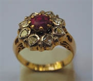 Picture of A Circular Burmese Ruby Ring