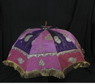 Picture of A South Indian ceremonial silk umbrella
