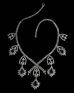 Picture of An impressive Star pattern Diamonds and Emeralds Necklace