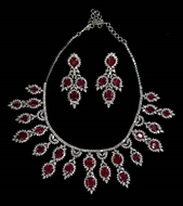 Picture of A very impressive Diamonds and Rubies Necklace set