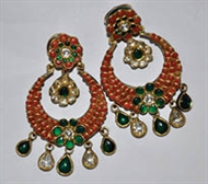 Picture of A very traditional north-Indian Pair of Earrings