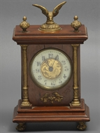 Picture of A mahogany mantle clock