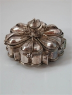 Picture of A fine Rajasthani Silver Ceremonial petal shaped box from circa 1920