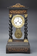 Picture of A French inlaid portico mantle clock