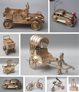Picture of A group of nine fine Colonial Silver miniature toys