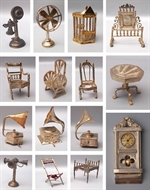 Picture of A group of fifteen fine Colonial Silver miniature toys