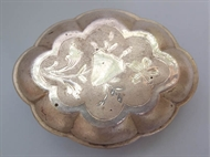 Picture of A Colonial Silver Soap Disc in octagonal shape