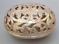 Picture of A Colonial Silver Soap Disc in oval shape