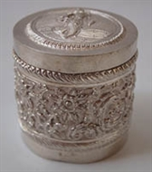Picture of A very fine intricately carved Rajasthani Silver box
