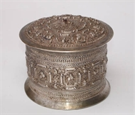 Picture of A very fine intricately carved south-Indian circular box