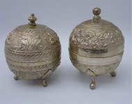 Picture of Two fine south-Indian circular Silver boxes