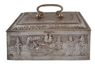 Picture of A very fine Kerala (Travancore) Silver Jewellery Box