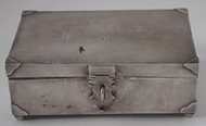Picture of An Art Deco pattern Silver Jewellery Box
