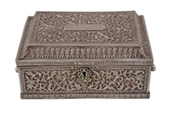 Picture of A very attractive hand carved Kutch Bhuj Silver Jewellery Chest