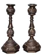 Picture of A fine pair of Hyderabadi (Deccan) Silver Candlesticks