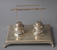 Picture of An Indian inkstand with double inkwells