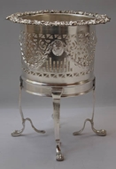 Picture of A Highly Decorative Silver Plated Container