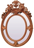 Picture of A very fine Transitional style gilted and composition framed mirror