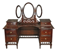 Picture of An Anglo-Indian Rosewood Hinged Three Oval Mirrored Dresser