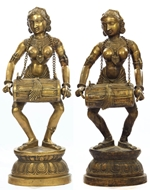 Picture of A very fine pair of Kutch (Gujarat) Brass Celestial Musicians