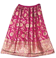 Picture of A magenta colour Rajasthani Ghagra (skirt)