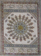 Picture of A Persian cotton durri/floor hand block printed mat