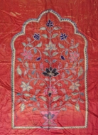 Picture of A Mughal pattern tent backdrop screen