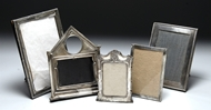 Picture of A collection of five Birmingham Hallmarked silver photograph frames