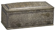 Picture of A large rectangular Burmese silver casket